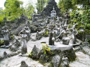 Magic Garden oder geheimer Buddha Garten