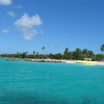 Insel Saona vom Meer