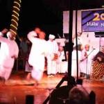 Omanische Tanzvorführung bei der Silvesterparty