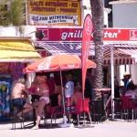 typischer Kiosk an der Playa de Palma