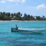 Boot im Karibischen Meer