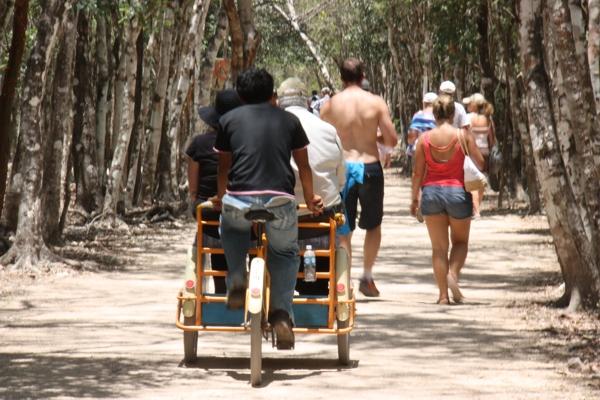 Fahrradtaxi in Coba