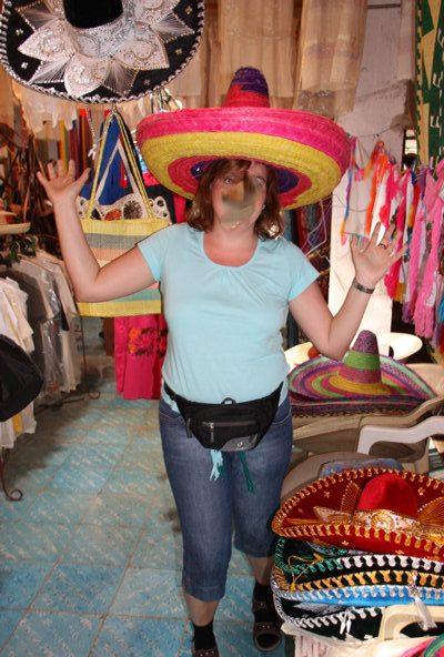 typische Sombreros in Mexiko
