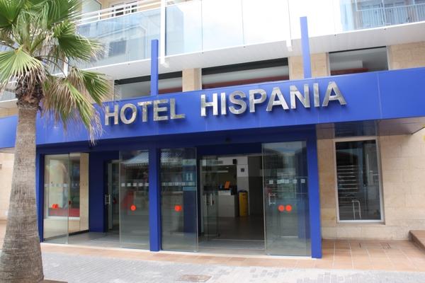 Eingang Hotel Hispania