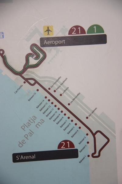 Fahrtroute Buslinie 21