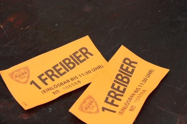 Freibier-Marken im Mega Park