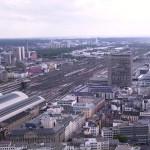 Blick auf das Gleisfeld des Hauptbahnhofes