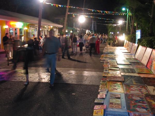 Markt auf der karibischen Straße