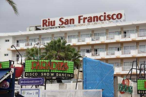 Discothek direkt unter dem Hotel Riu San Francisco