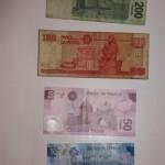 Banknoten Mexikanischer Peso Rückseite