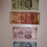 Banknoten Mexikanischer Peso Vorderseite