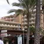 Blick von der Promenade auf Hotel Playa Golf