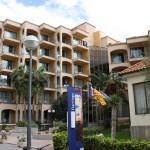 Eingang Hotel Flamingo