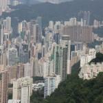 Blick auf die Skyline von Hong Kong
