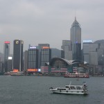 Hafenpromenade in Hong Kong