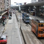 öffentlicher Straßenverkehr auf Hong Kong Island