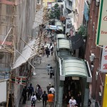 Mid-Level Escalators in Hong Kong