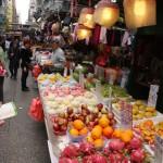 Allerlei Waren auf den Märkten in Hong Kong