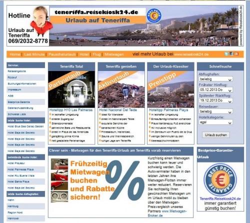 Reiseportal Teneriffa.Reisekiosk24.de