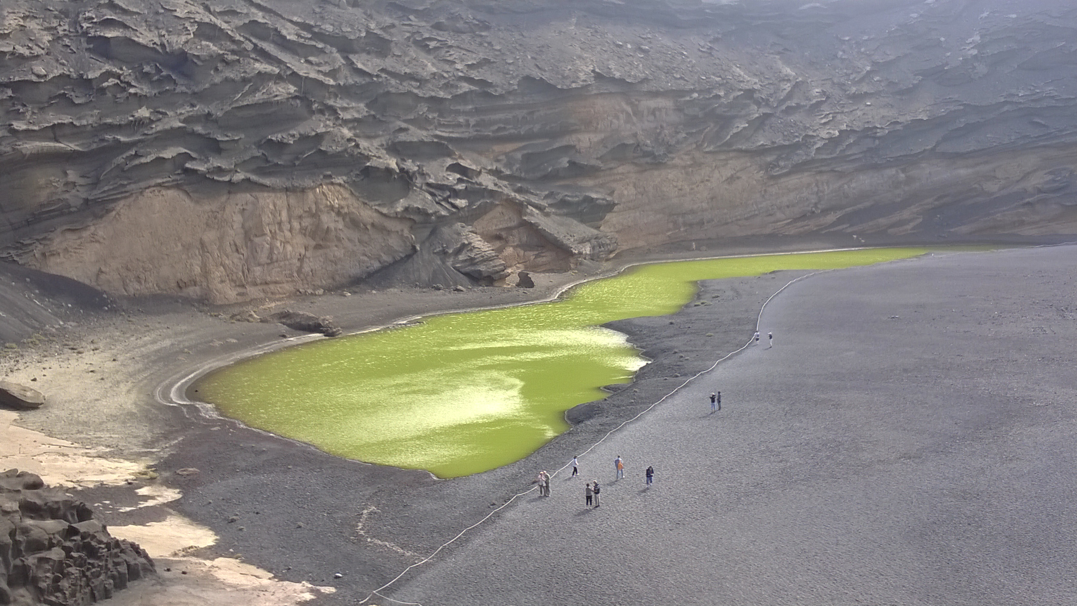 Kratersee El Golfo (Lanzarote)