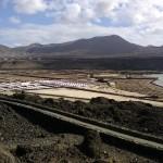 Anlage der Salzgewinnungsanlage Salinas de Janubio