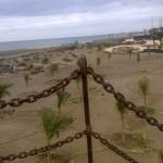 Blick auf den Strand Playa de los Pocillos