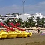 Wassersport am Playa Grande auf Lanzarote