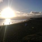 Sonnenuntergangsstimmung am Playa Grande