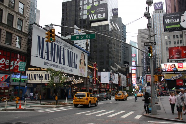 Theaterwerbung am Times Square New York
