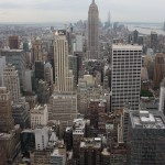 Blick vom Rockefeller Center auf New York