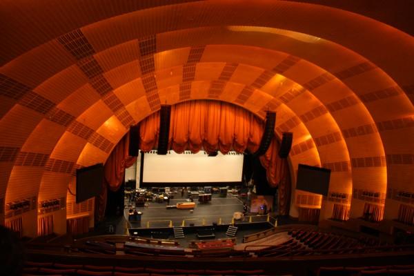 Bühne in der Radio City Music Hall New York