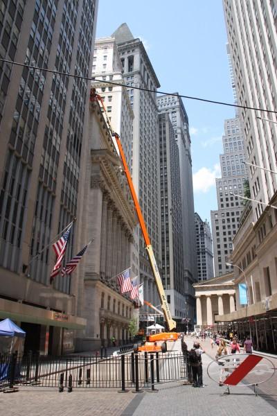 Blick in die Wall Street in New York