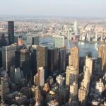 Blick über New York vom Empire State Building