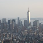 One Word Trade Center vom Empire State Building gesehen