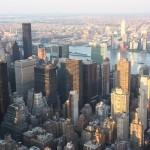 Wolkenkratzer um den Times Square vom Empire State Building