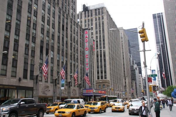 Gebäude der Radio City Music Hall in New York