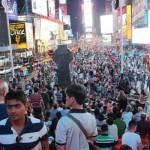 Menschenmassen am Times Square