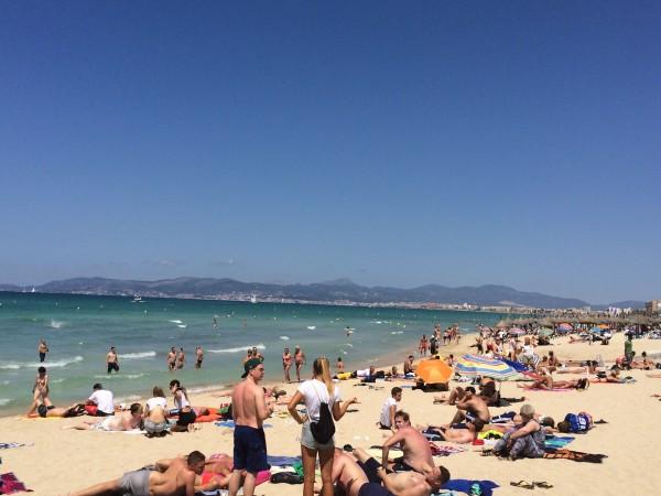 Strand an der Playa de Palma