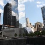 Symbolischer Fußabdruck als Erinnerung an das World Trade Center
