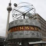 Berliner Fernsehturm und Urania-Weltzeituhr