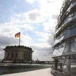 Reichstagskuppel von der Dachterrasse des Reichstagsgebäudes