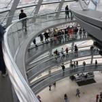 Rampe zur Aussichtsplattform in der Reichstagskuppel