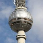 Blick auf Turmkorb des Berliner Fernsehturms