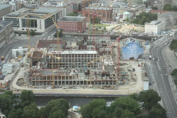 Baustelle Berliner Schloß vom Fernsehturm