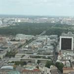 Blick auf Regierungsviertel vom Berliner Fernsehturm