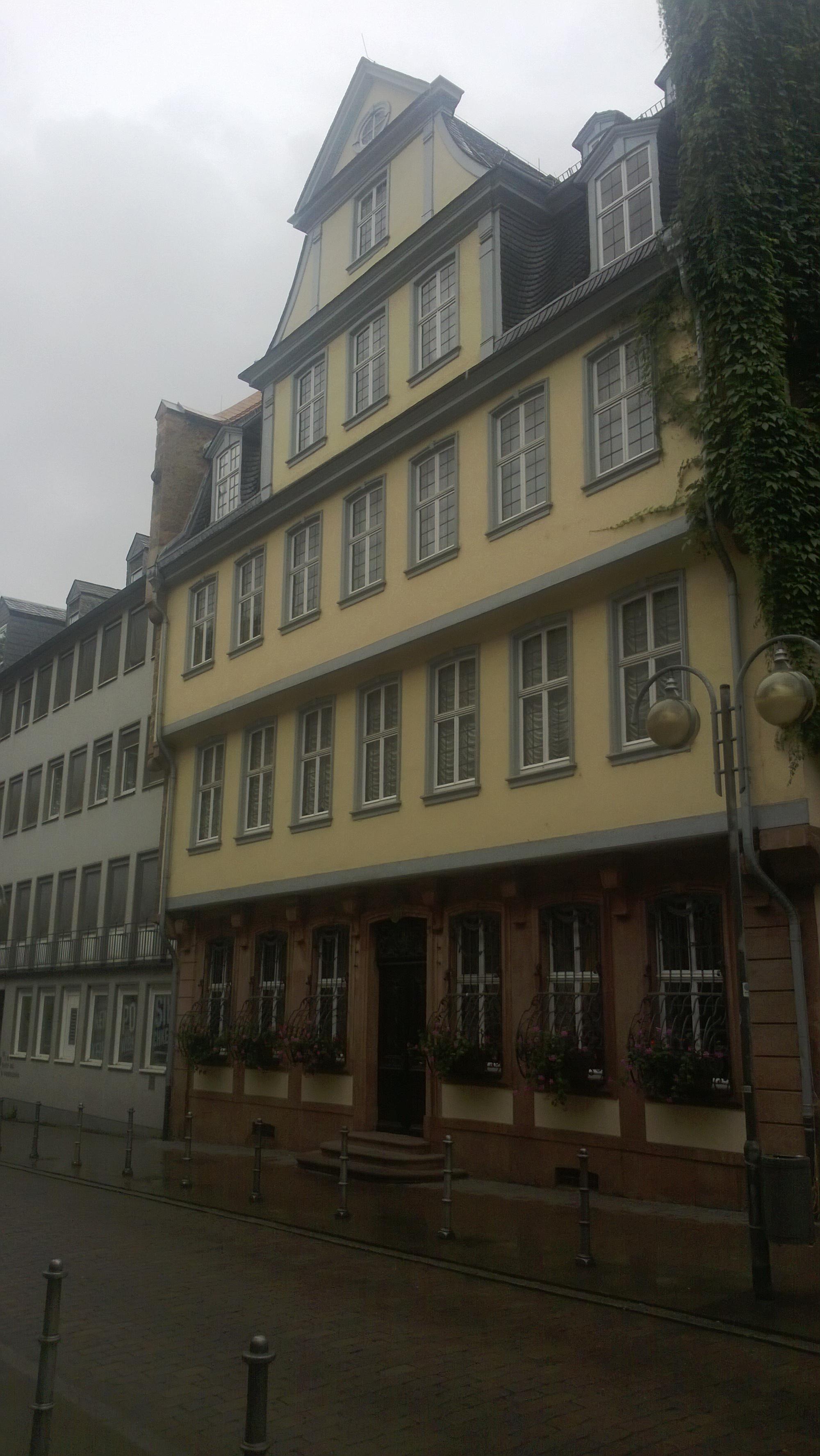Außenansicht Goethe-Haus in Frankfurt