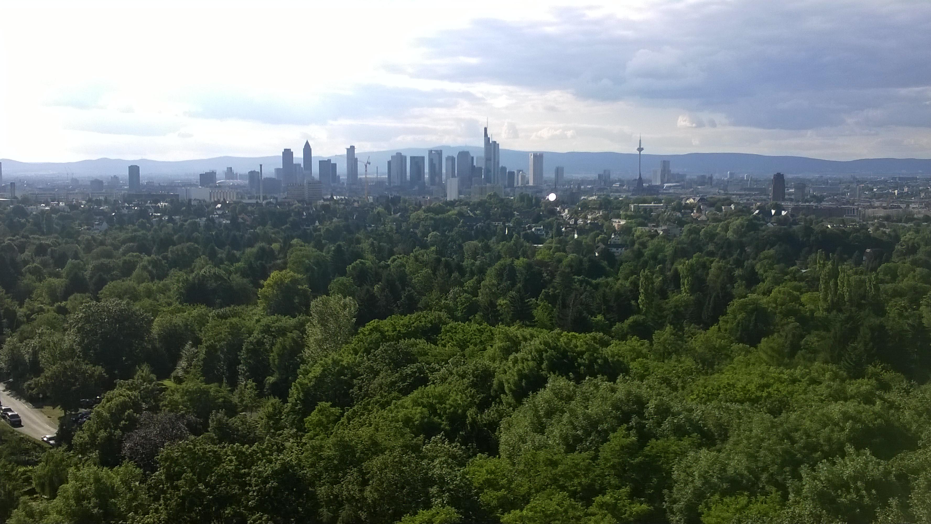 Skylineblick vom Frankfurter Goetheturm