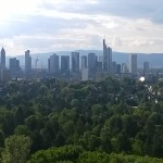 Blick auf die Frankfurter Hochhäuser vom Goetheturm