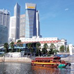 Bootsfahrt über Singapur River