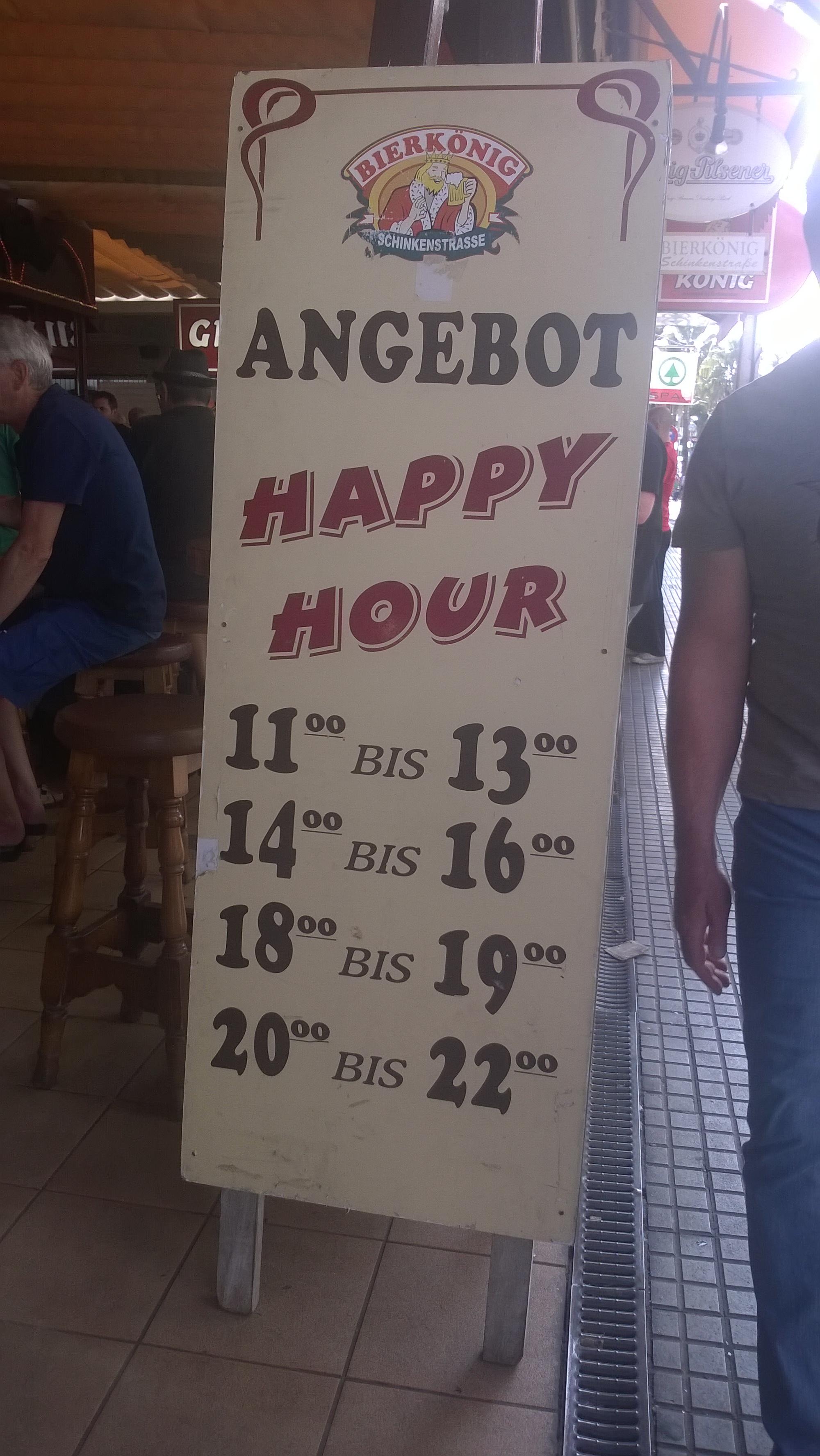 Happy Hour Angebote im Bierkönig am Ballermann